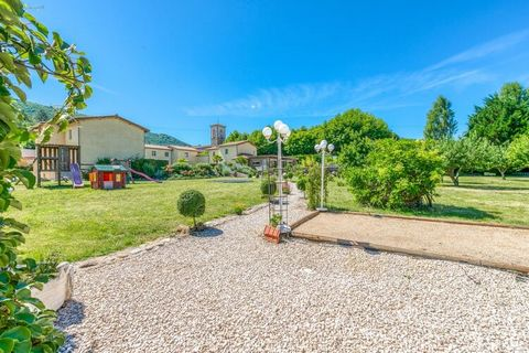 This stunningly beautiful holiday home in Gagnières has 2 bedrooms which can accommodate 6 people with a child comfortably. Ideal for friends or families on a vacation, the home features a swimming pool shared with other guests for taking a refreshin...