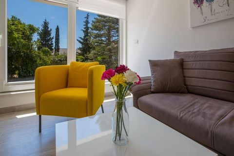 This adorable apartment, with 1 bedroom for 2 people, is located in Dramalj. Ideal for a small group, guests can take a dip in the shared swimming pool and access free WiFi at this property. You can walk down to the beach, 380 m away, where you can e...