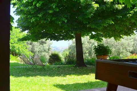 Our charming home is a particularly pretty 18th century villa set on the hills that surround the medieval city of Lucca, just beside a small, 11th century church. Large windows facing the valley flood the ground floor rooms with sunshine, highlightin...