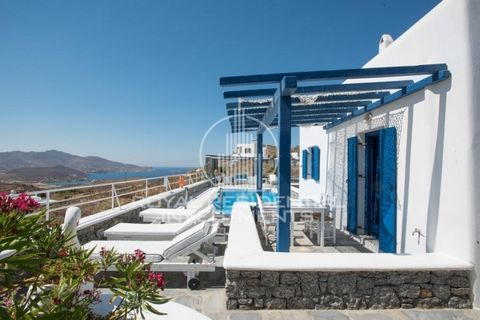 Code: 16712 - MYKONOS, ANO MERA - Apartment/suite of 66 sq.m. ground floor in a complex of 5 houses with a shared pool and panoramic view of the sea of Ftelia. It consists of 2 bedrooms, living room, kitchen, 2 bathrooms. It is of very good construct...