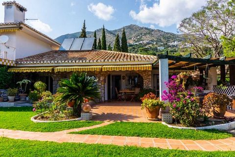 This amazing rural estate sits nestled just below the charming little white village of Mijas and is only a 10 minute drive away from the beautiful coast with its many beaches and excellent fish restaurants and tapas bars. The finca is entered through...