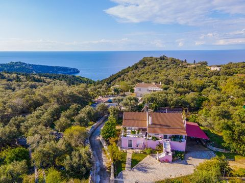 For sale a detached house of 214 sq m on the beautiful island of Paxos. It is built in two levels, set in a plot of 2.159 sq. m with a great view to the countryside. The ground floor, which is a separate apartment, consists of a living-dining room an...