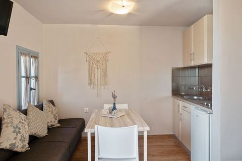 Lovers of peace and tranquility may rejoice as this apartment is located in a serene and picturesque village in Lesvos Island. It allows a small family of 2 to stay comfortably and comes with 1 bedroom, alongside a shared swimming pool and parking fa...