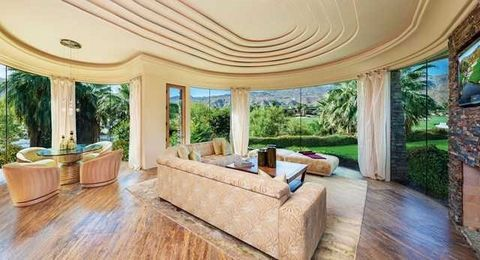 Detailed Description: The best value on the Canyons Golf Course. Gated, south facing, contemporary home on two lots, overlooking a huge lake, golf course and the Santa Rose Mountains. 8 bedrooms including 2 casitas, subterranean wine room and theater...