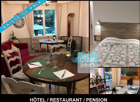 Hôtel restaurant de 9 chambres et 2 suites tout confort. L'ensemble situé à 400 mètres de l'établissement thermal de Barbotan. Le 1er Bâtiment se compose de la façon suivante: Un hall d'entrée de 13.18 m2 une salle commune de restauration de 51 m2 av...
