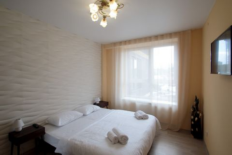The apartments with 2 separate rooms are located on the street. Balabana 12, on the 8/9 floor in the residential complex