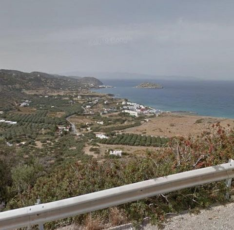 Crete, Sitia, Community of Sfakas, location Arkalies. For sale a parcel 2.700 sq.m., 30 olive trees, outside of city plan, amphitheatrical, corner, 2-sided, buildable, builds 200 sq.m., electricity, water supply, 500 m from sea, panoramic sea view. T...