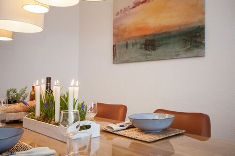 This bright, trendy duplex apartment is located in a quiet neighbourhood. The characteristic design of the house is reflected in the quality furnishings. There is a dining area for 4-6 people. The spacious corner sofa and leather armchair also provid...