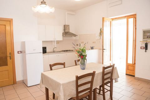 This apartment has a shared swimming pool and a nice location, close to the sea. There are enough recreational opportunities and it is the ideal choice for a sun holiday with the family. The property is 5 km from the beautiful Vieste, in the Gargano ...