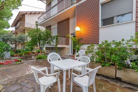 This 2-bedroom apartment is located in a quiet street in Cattolica and makes an ideal stay for a small family of 5 persons. The apartment has a shared fenced courtyard to relax and linger outdoors in the fresh air. Cattolica is the resort for familie...