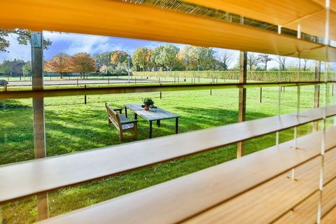 This beautiful holiday home in Tripscompagnie is located behind the riding school with views over the land and the horses. Wake up with a lovely morning song by the birds in the quiet location. Ideal for a couple on a romantic vacation away from the ...
