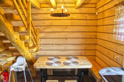 Nowy, wygodny dom wakacyjny w stylu góralskim, położony na dużym, zadbanym i ogrodzonym terenie nad brzegiem jeziora Goszcza. Idealne miejsce na wypoczynek, plaża na wyciągnięcie ręki - ciesz się kąpielami w jeziorze, uprawij sporty wodne lub wypoczy...