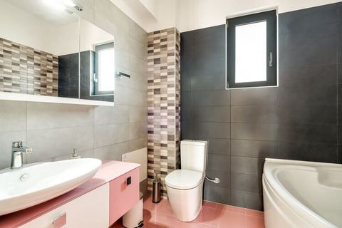 A modern villa in the Adelianos Kampos region of Crete in Greece, it can house up to 10 guests and has 5 contemporary bedrooms. It is well suited for a big family or group of friends looking to have a wonderful vacation in the region. You can enjoy a...