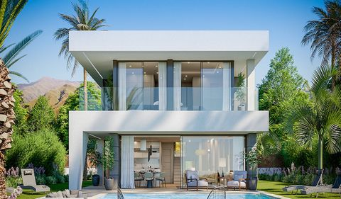 The design of these villas is modern and fresh. The horizontal lines, parallel to the sea, create a symmetrical shape, while the vertical lines break and give movement to the villa. Set on 2 levels, this spacious Costa del Sol villa is going to be bu...