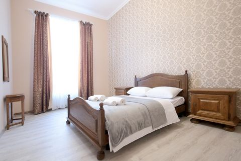 The apartments with 2 separate rooms are located on the street. Tikor 3, on 2/4 floor. In the heart of Lviv. The apartments have: - Built-in kitchen; - Refrigerator; - Microwave; - Electric kettle; - Gas stove; - Cutlery; - Kitchen appliances; - Wine...