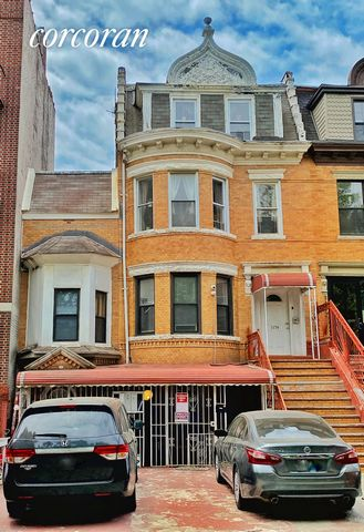 Welcome to 1174 Eastern Parkway, a four story, three family home. This house has a total of 14 bedrooms and 6 bathrooms and currently brings in aprox. $120,000 a year in rent.Also has 2 private parking spots.Sitting on an oversized lot, 30 120 feet, ...