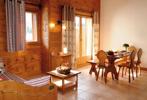 At 800m from the centre of Samoens Village, Alps, France and 1km from the cable car (free shuttles ) the Fermes de Samöens comprises of 130 apartments over small 2-floor buildings and chalets all built in the Savoyard style. The