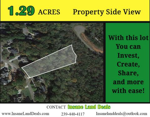 Located in Canton. Perfect 1.29ac Build Site in Canton Selling at 30K OFF Market Value WHOLESALE PRICED !! **************************** Contact Insane Land Deals to learn more: 239-440-4117 - insanelanddeals@outlook.com School and City Rankings and R...